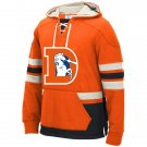 Denver Broncos Heavyweight Sweatshirts Funnel Neck Pullover Hoodie Orange