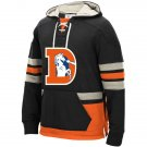 Denver Broncos Heavyweight Sweatshirts Funnel Neck Pullover Hoodie Black