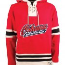Oshawa Generals NHL Old Time Hockey Mens Old Lacer Heavyweight Sweatshirts Red