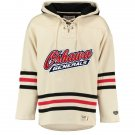 Oshawa Generals NHL Old Time Hockey Mens Old Lacer Heavyweight Sweatshirts White