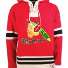 Chicago Blackhawks NHL Old Time Hockey Mens Old Lacer Heavyweight Sweatshirts Red