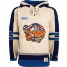 Erie Otters NHL Old Time Hockey Mens Old Lacer Heavyweight Sweatshirts White