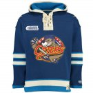 Erie Otters NHL Old Time Hockey Mens Old Lacer Heavyweight Sweatshirts Blue