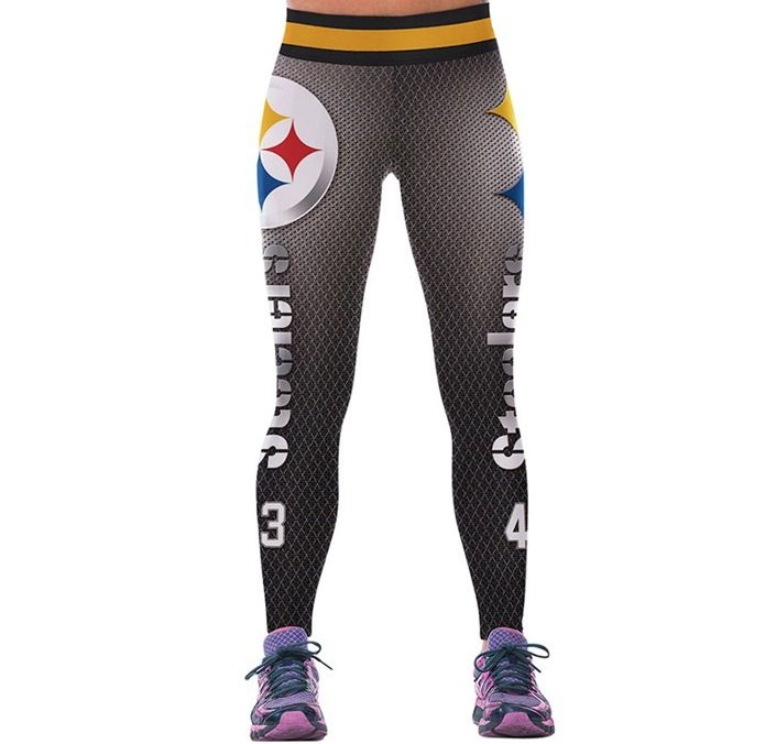Free Shipping Woman Yoga Pants Fitness Sport Leggings Pittsburgh Steelers Sports Tights Fiber 3D
