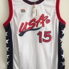 Hakeem Olajuwon #15 Throwback 1996 USA Basketball Jersey Stitched Sewn White