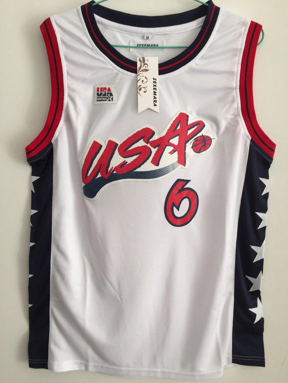 Penny Anfernee Hardaway #6 Throwback 1996 USA Basketball Jersey Stitched Sewn White