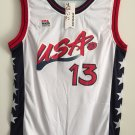 Shaquille O'Neal #13 1996 USA Basketball Jersey Stitched Sewn White