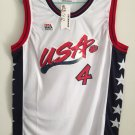 Charles Barkley #4 1996 USA Basketball Jersey Stitched Sewn White