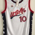 Reggie Miller #10 1996 USA Basketball Jersey Stitched Sewn White