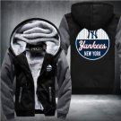 Jacket 2018 New York Yankees Luxury Hoodies Super Warm Thicken Fleece Men's Coat Grey Black