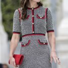 Kate Middleton Grosgrain-Trimmed Tweed Mini Dress