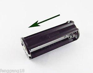 10x Black Cylindrical 3 AAA Plastic Battery Holder Case Box For Flashlight Lamp