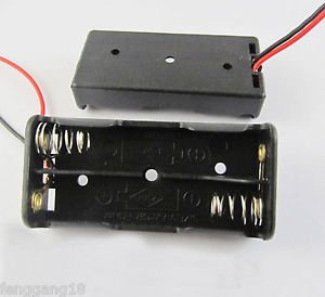 New 2x AAA 3A Battery Holder Box Case 3V With Wire Black