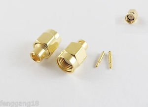 "10pcs SMA Male Plug Solder For Semi-Rigid RG402 0.141"" Cable RF Connector"