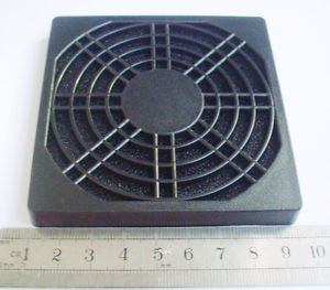 1pcs Black Dustproof Dust Fan Filter for DC PC Fan 80mm 8cm New