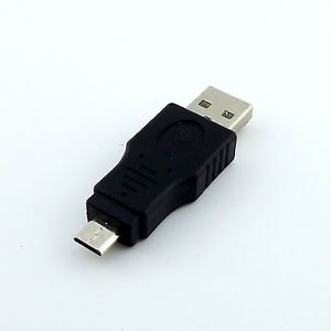 1x USB 2.0 A Male Plug To Micro-B USB 5 Pin Data Adapter Converter Connector M/M