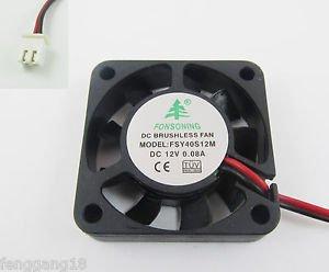 10Pcs Brushless DC Cooling Fan 9 Blade DC 12V 40mm x40mmx10mm 4010S12M