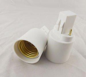 10x GX23 to E27 Socket Base LED Halogen Light Bulb Lamp Adapter Converter Holder