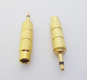1x 3.5mm Male Plug to 6.35mm Female Jack Mono Metal Audio Adapter Converter Gold