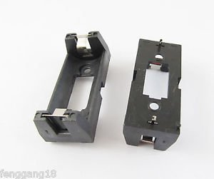 2x CR123A CR123 Lithium Battery Holder Box Clip Case w/ PCB Solder Mounting Lead