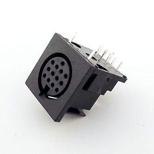 5pcs DIN 13 Pin Circular Jack Female Panel Mount PCB Mount Connector Adapter