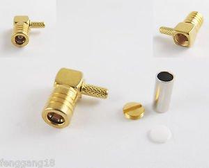 1x SMB Female Jack Right Angle Crimp RG174 RG179 RG316 RG188 Cable RF Connector
