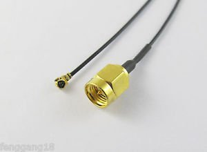 SMA Male Plug Center Straight to IPX U.FL Female Pigtail Jumper 1.13 Cable 20cm