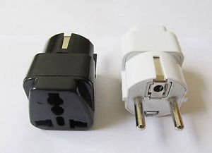 US AU UK to EU AC POWER PLUG 10/16A Grounded Universal Adapter Travel Converter