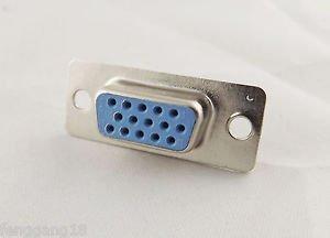 1x VGA Female Jack Socket DB15 15-Pin D-SUB 3 Rows Solder Type Connector Adapter