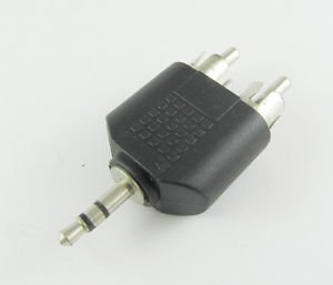 """3.5mm 1/8"""" Male Plug Stereo To Dual RCA Male Y Splitter Audio Adapter Converter"""