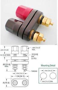 5x Gold Amplifier Terminal Binding Post Banana Plug Female Jack Aadapter 41x34mm