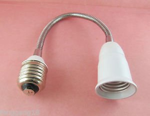 30cm E27 to E27 Light Lamp Flexible Extension Adapter Converter Screw Socket