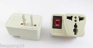 US UK Euro EU Au to US Power AC Adapter Plug With Power Switch 250V 10Amp 10A