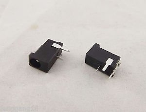 2x Connector 3.5x1.35mm Female Jack Socket DC Power Supply 3 Pin PCB Panel Mount
