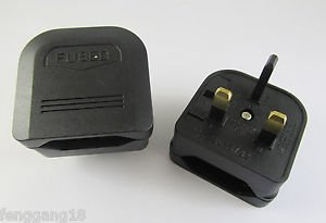 EUROPEAN EURO EU 2 Pin TO UK 3Pin Travel Plug Mains FLIP Adapter Converter Fused
