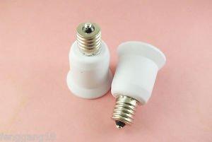 E17 to E27 Socket Base LED Halogen CFL Light Bulb Lamp Adapter Converter Holder