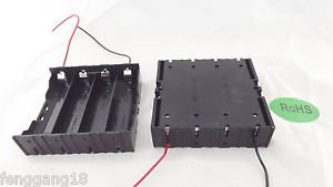 10x Hold Four 4 Li-ion 18650 Battery Holder Case Series 14.8V With 2 Leads Wire