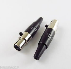 3 Pin Female Plug Mini XLR Audio Microphone Connector MIC Adapter Tini TA3F Q-G
