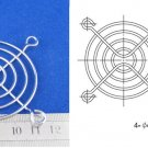Metal Wire Finger Guard 60mm CPU Fan DC Fan Grill/Guard Protector for PC Silvery