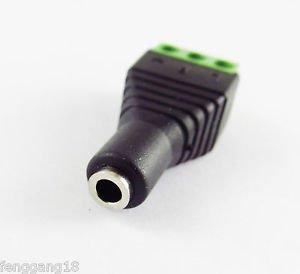 """3.5mm 1/8"""" Stereo Female Jack To AV Screw Video AV Balun Terminal Plug Adapter"""