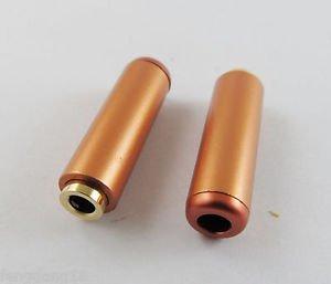 Orange 3.5mm Female Socket 3 Pole Repair Audio Earphones TRS Connector Soldering
