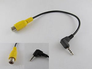 2.5mm Stereo Jack Plug To RCA Female Adapter For GPS AV-in Converter Video Cable