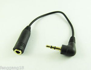 2.5mm Male to 3.5mm Female Stereo Gold Earphone Audio Converter Headphone Cable