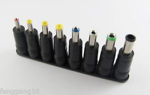 1x 8 In 1 Power Jack Universal DC Socket 5.5 x 2.1mm To Plug Connector Converter