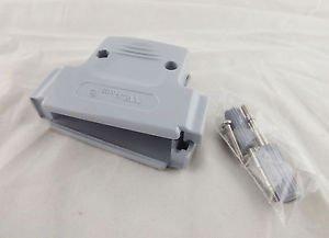 1x D-SUB Plastic Hood Cover Backshell & Screws for D-Sub 50 Pin DB50 DB78 78 Pin