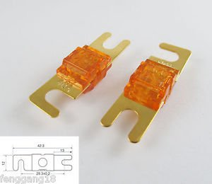 1pcs Gold Plated Car Audio AFS Mini ANL Fuse Auto Stud Fuses 32V 40A 40AMP