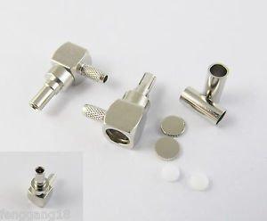 CRC9 Male Plug Right Angle Crimp F RG174 RG188 RG316 Cable 3G Modem RF Connector