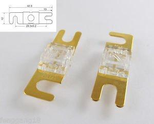 10pcs Gold Plated Car Audio AFS Mini ANL Fuse Auto Stud Fuses 32V 80A 80AMP