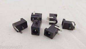 10x Connector 5.5x2.1mm Female DC Power Supply 3 Pin Barrel-Type PCB Panel Mount
