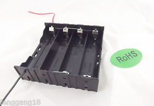 1x Hold Four 4 Li-ion 18650 Parallel Battery Holder Case 3.7V With 2 Leads Wire